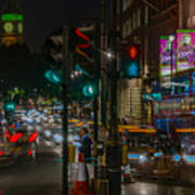 Whitehall London At Night  Poster