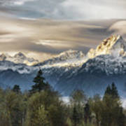 Whitehorse Sunrise, Flowing Clouds Poster