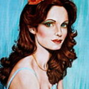 Flower In Her Hair Poster