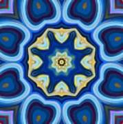Whorl Kaleidoscope Poster