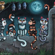 Whos Your Daddy Cat Painting Poster