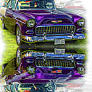 Wicked 1955 Chevy - Reflection Poster