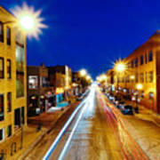 Wicker Park Light Trails Poster
