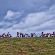 Wide Brown Land - Canberra - Australia Poster