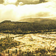 Wide Open Tasmania Countryside Poster