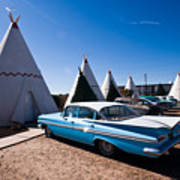 Wigwam Motel Classic Car #6 Poster