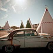 Wigwam Motel Classic Car #8 Poster