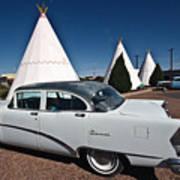 Wigwam Motel Classic Car Poster