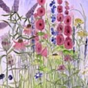 Wild Garden Flowers Poster