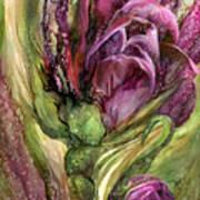Wild Garden Tulips Poster