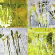 Wild Grass Collage 2 Poster