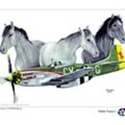 Wild Ponys Poster by Trenton Hill