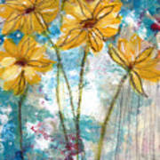 Wild Sunflowers- Art By Linda Woods Poster