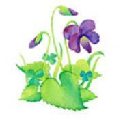 Wild Violet Poster