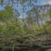 Wildcat Den Cliffs And Trees In Fall Poster