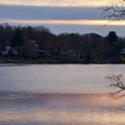 Wilde Lake At Sunset Poster