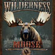 Wilderness Moose Poster