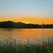 Wilderness Point Sunset Panorama Poster