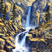Wilderness Waterfall Poster