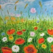 Wildflowers Field Poster