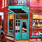 Wilenskys Cafe On Fairmount In Montreal Poster