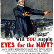 Will You Supply Eyes For The Navy Poster by War Is Hell Store