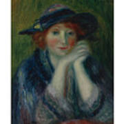 William J. Glackens 1870-1938 1870 - 1938 Portrait Study Of An Artist's Model Poster