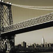 Old New York Photo - Williamsburg Bridge Poster