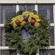 Williamsburg Wreath 25 Poster