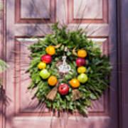 Williamsburg Wreath 53 Poster