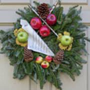 Williamsburg Wreath 87 Poster