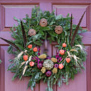 Williamsburg Wreath 92 Poster