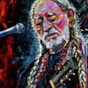 Willie Nelson Portrait Poster