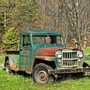 Willys Jeep Pickup Truck Poster