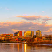 Wilmington Skyline At Sunset Poster