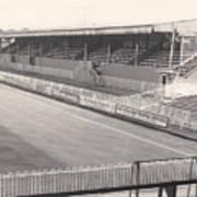 Wimbledon Fc - Plough Lane - South Stand 1 - Bw - 1969 Poster