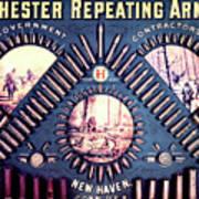 Winchester 1888 Cartridge Board Poster
