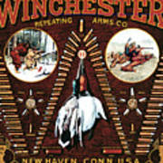 Winchester W Cartridge Board Poster