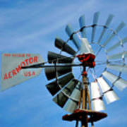 Wind Mill Pump In Usa 2 Poster