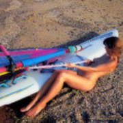 Wind Surf Poster by Manolis Tsantakis