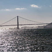 Wind Surfing Under The Bridge Poster