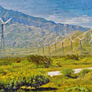 Wind Turbine Farm Palm Springs Ca Poster