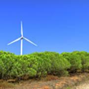 Wind Turbines Landscape Poster