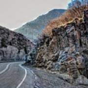 Winding Canyon Road Poster