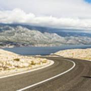 Winding Road In Croatia Poster