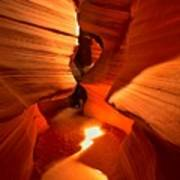 Winding Through Antelope Canyon Poster