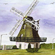 Windmill At City Beach Poster