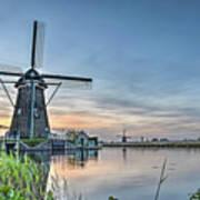 Windmill At Kinderdijk Poster