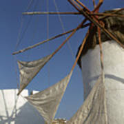 Windmill On Mykonos Poster