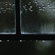 Window And Raindrops Poster
